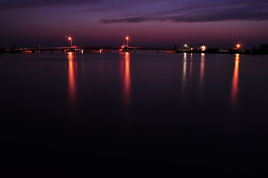 Boca Grande Causeway at Night, As Is by Kim McClain Gregal