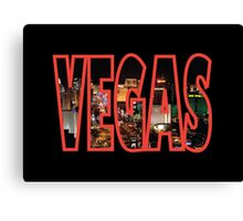 Las Vegas - Red Canvas Print