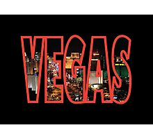 Las Vegas - Red Photographic Print