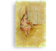A Child, A Book, A Doll or Two Canvas Print