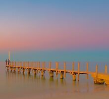 Quindalup Jetty, Pink by mmphotographics