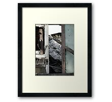 A Doorway to a House Decayed Framed Print