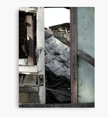 A Doorway to a House Decayed Canvas Print