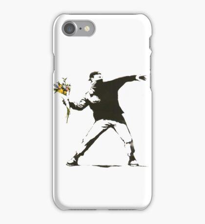 BANKSY FLOWER THROWER iPhone Case/Skin
