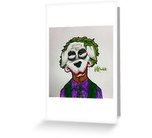 The Joker dog by WRTISTIK Greeting Card
