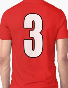 Football, Soccer, 3, Three, Third, Number Three, Sport, Team, Number, Red, Devils T-Shirt
