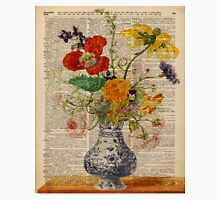 Bouquet of flowers over dictionary page Unisex T-Shirt