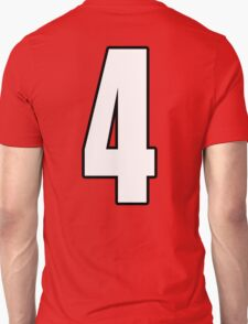 Football, Soccer, 4, Four, Fourth, Number Four, Sport, Team, Number, Red, Devils T-Shirt