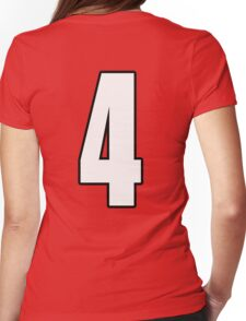 Football, Soccer, 4, Four, Fourth, Number Four, Sport, Team, Number, Red, Devils Womens Fitted T-Shirt