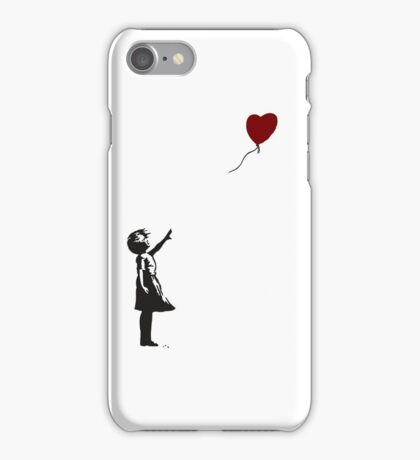 BANKSY GIRL LOSING HEART GLOBE  iPhone Case/Skin