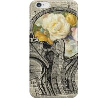 Brain full of flowers Dictionary Art iPhone Case/Skin
