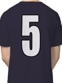 Football, Soccer, 5, Five, Fifth, Number Five, Team, Number, Red, Devils Classic T-Shirt