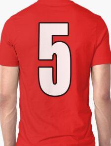 Football, Soccer, 5, Five, Number Five, Team, Number, Red, Devils T-Shirt