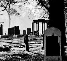 Ancient names fragments - Jewish cemetery in Sosnowiec by Jacek Lidwin