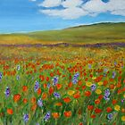 Flowerfields in summer by olivia-art