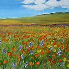 Flowerfields in summer by olivia-art