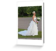The White Dress Greeting Card