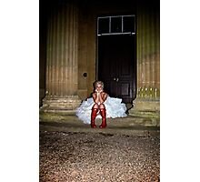 Love my dress and wellies Photographic Print