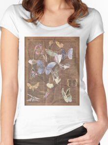 Butterflies on a tree Women's Fitted Scoop T-Shirt