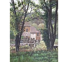 Bournemouth Throop flour mill through trees Photographic Print