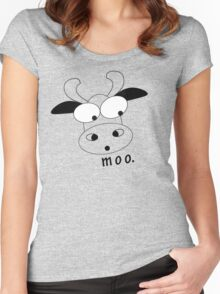 moo. Women's Fitted Scoop T-Shirt