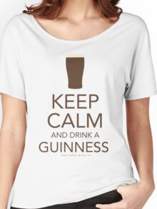 Keep Calm and Drink a Guinness Women's Relaxed Fit T-Shirt