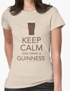Keep Calm and Drink a Guinness Womens Fitted T-Shirt