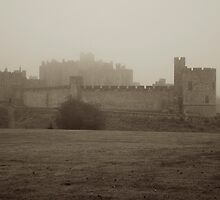 Alnwick Castle in fog by Iceangel