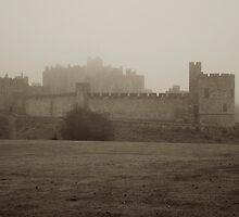 Alnwick Castle in fog by Iceangel
