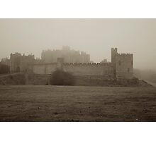 Alnwick Castle in fog Photographic Print