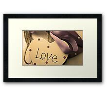 Love Heart On A Ribbon & Twine 2 Framed Print