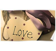 Love Heart On A Ribbon & Twine 2 Poster