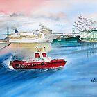 Norwegian Dream leaves port by Rob Beilby
