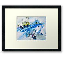 Blue Landscape Framed Print