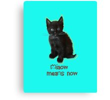 Miaow Means NOW Canvas Print