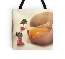 Mila and the Giant Egg Tote Bag