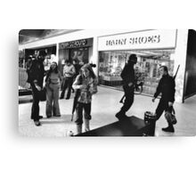 Zombie Fighters in the Mall Canvas Print