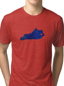 Blue Kentucky Tri-blend T-Shirt
