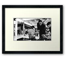 Actors Between Shots Framed Print