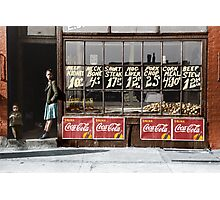 1941. South Side market, Chicago. With security at the door Photographic Print