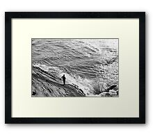 Man on the beach Framed Print