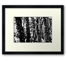 Ancient names fragments - Jewish cemetery in Gliwice Framed Print
