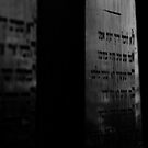 Ancient names fragments - Jewish cemetery in Bytom by Jacek Lidwin