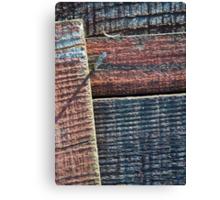 Wooden Weave Canvas Print