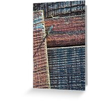 Wooden Weave Greeting Card