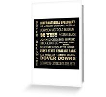 Dover Delaware Famous Landmarks Greeting Card