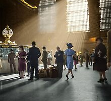 1941 Grand Central Terminal, New York City by Marie-Lou Chatel