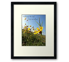 Celebrating Her Life. Today and always. Framed Print