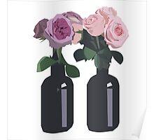Printed roses Poster
