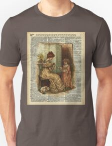 Child Book crocheting Illustration  Unisex T-Shirt